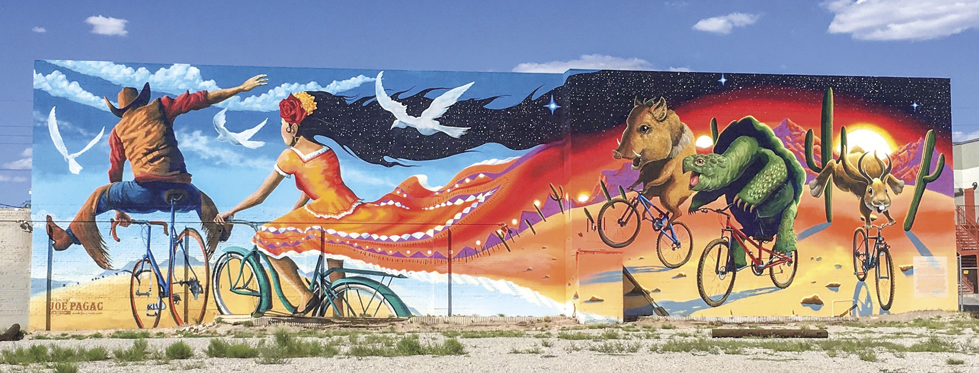 Joe Pagac's Dalí-esque artworks; Photo courtesy Visit Tucson