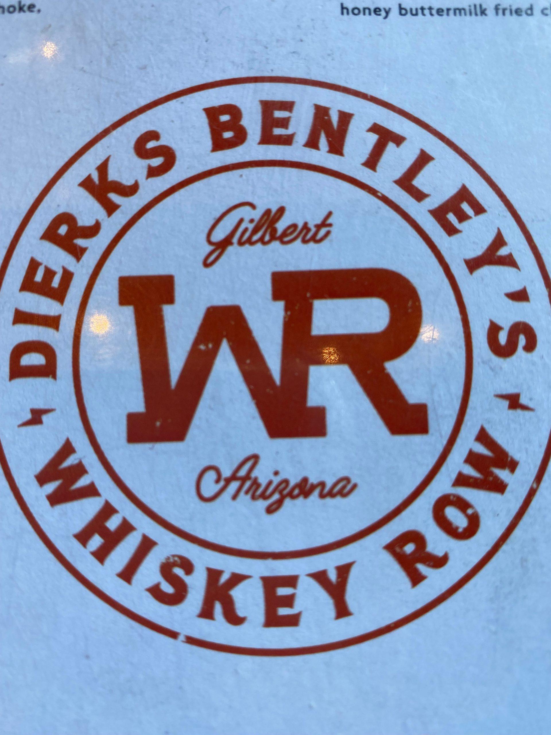 Logo on menu at Dierks Bentley's Whiskey Row Gilbert. Photo by Matthew Johnson, PHOENIX