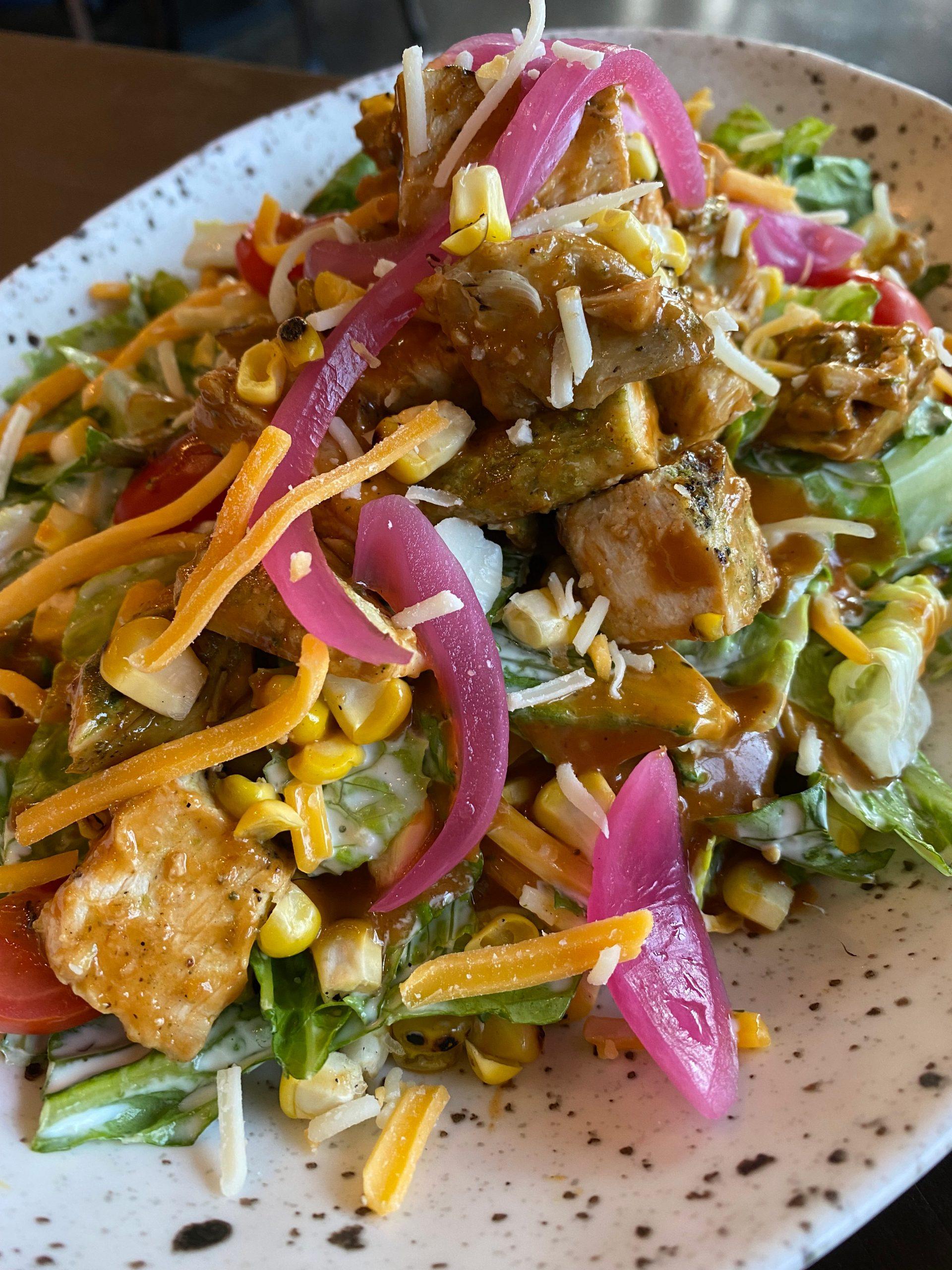 BBQ Chicken Salad at Dierks Bentley's Whiskey Row Gilbert. Photo by Matthew Johnson, PHOENIX