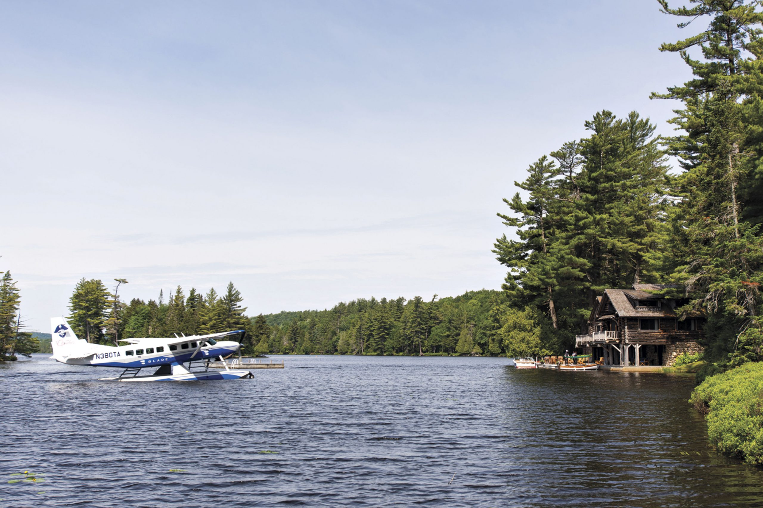 Seaplane arrival; Photo courtesy Lake Kora