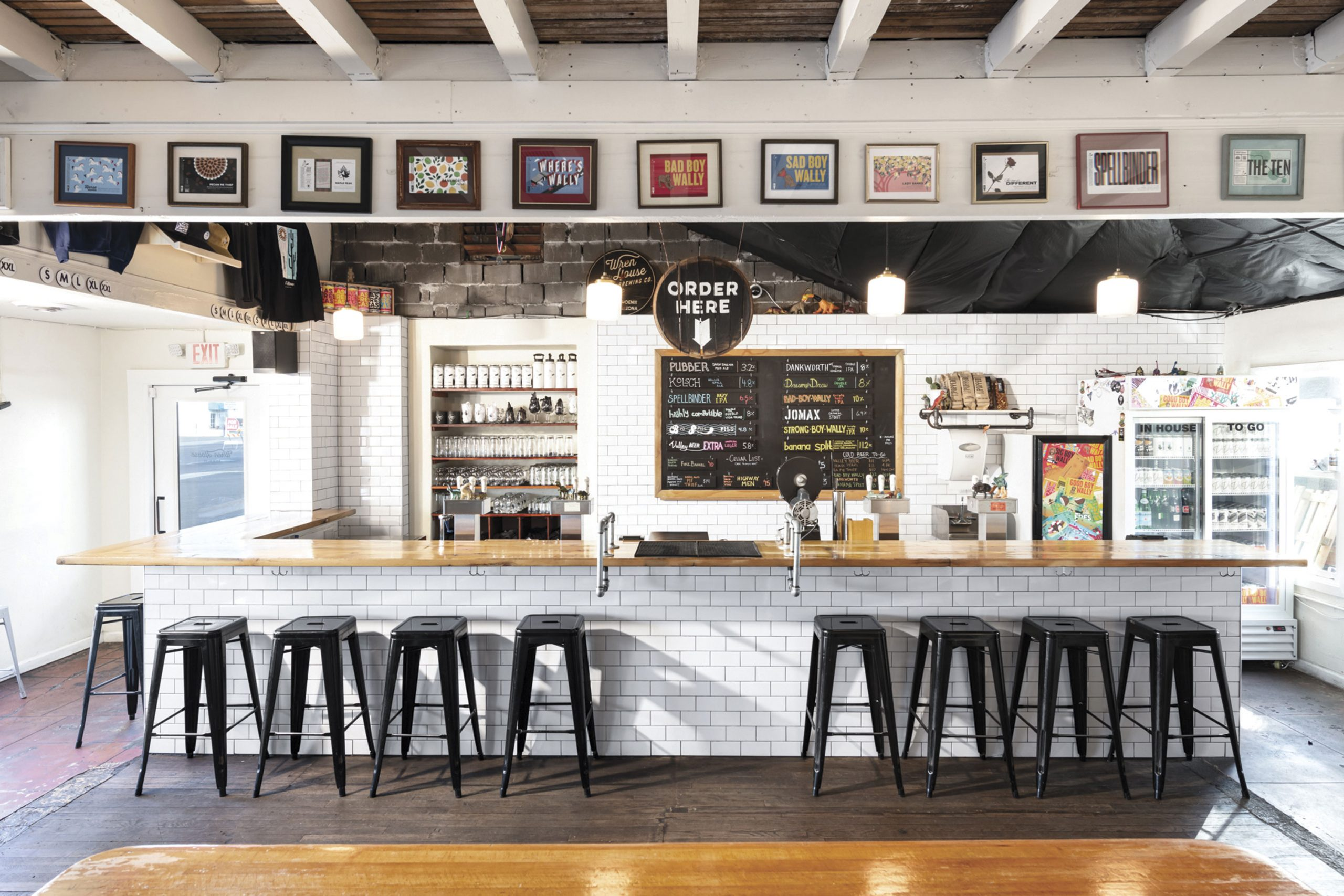 bar at Wren House Brewing Company; Photo by CAPSFOTO/Courtesy Wren House Brewing Company