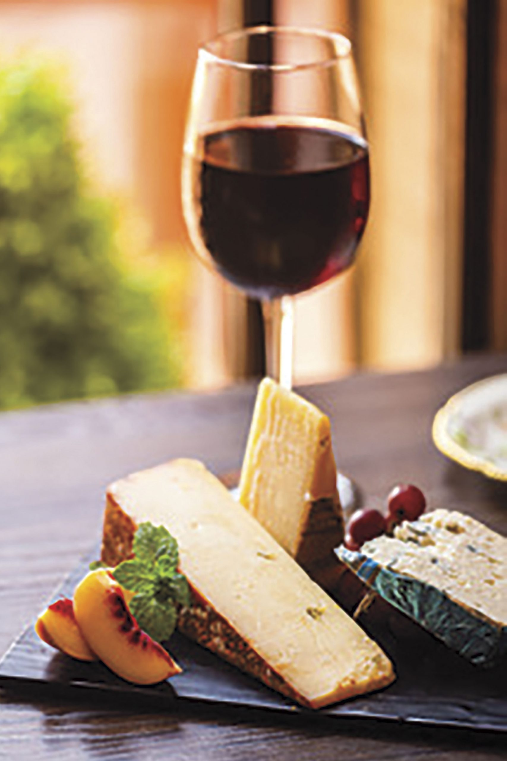Cheeses and wine from Nomada; Photo by Nate Cooper/Courtesy Nomada