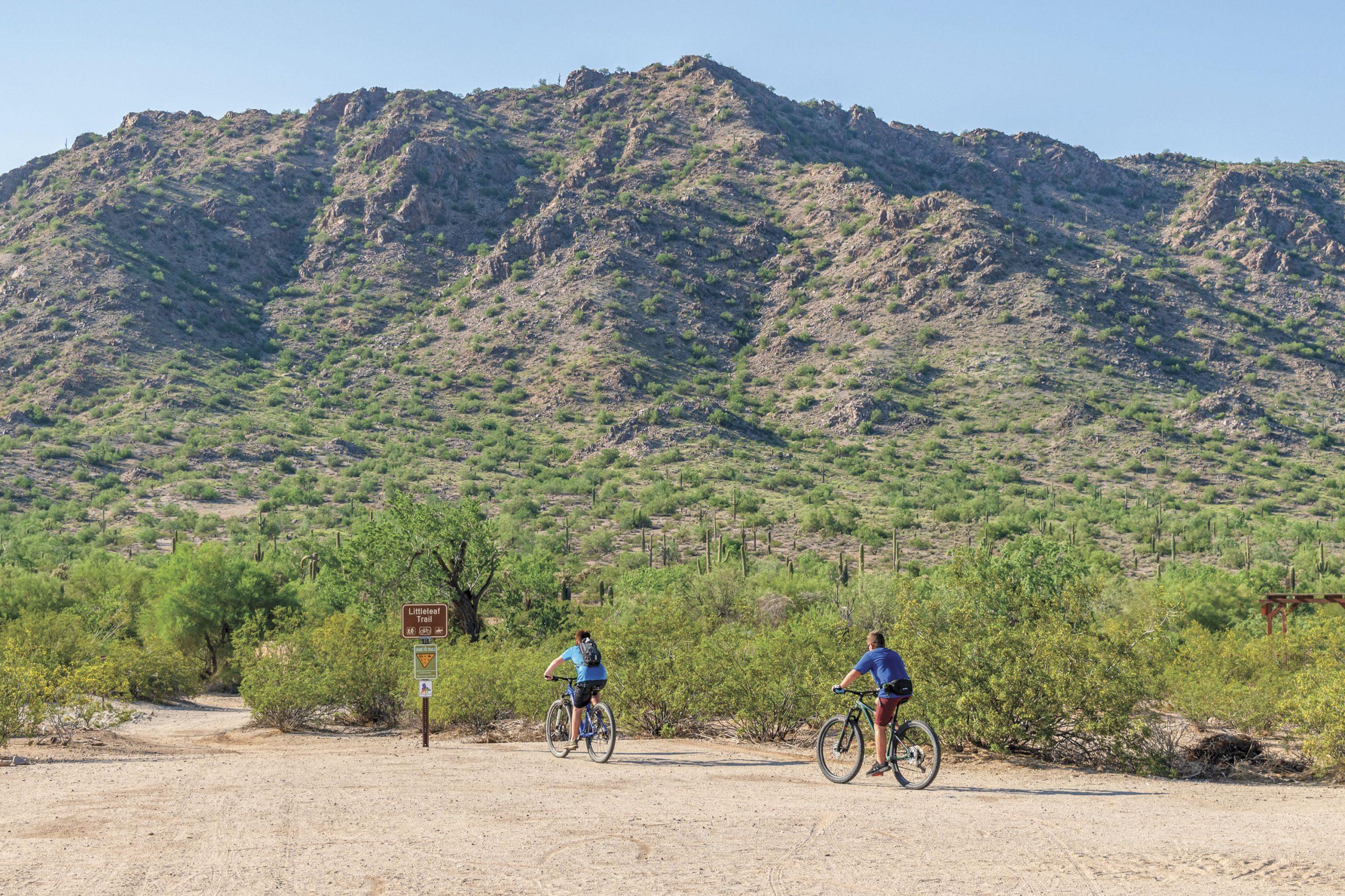 Bicycling at San Tan Mountains; Photo by Monserrat Apud De La Fuente