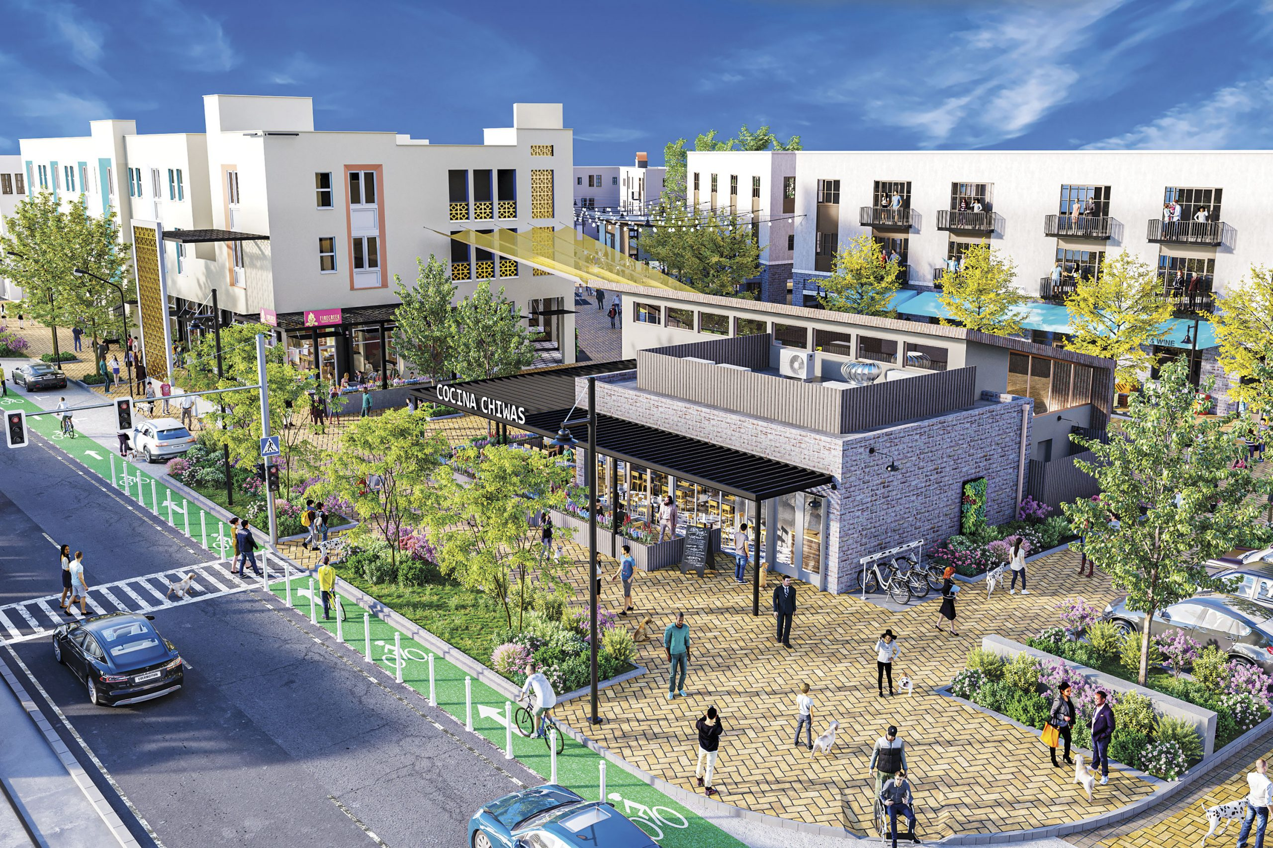 Art renderings of Cocina Chiwas; Photo courtesy Culdesac Tempe