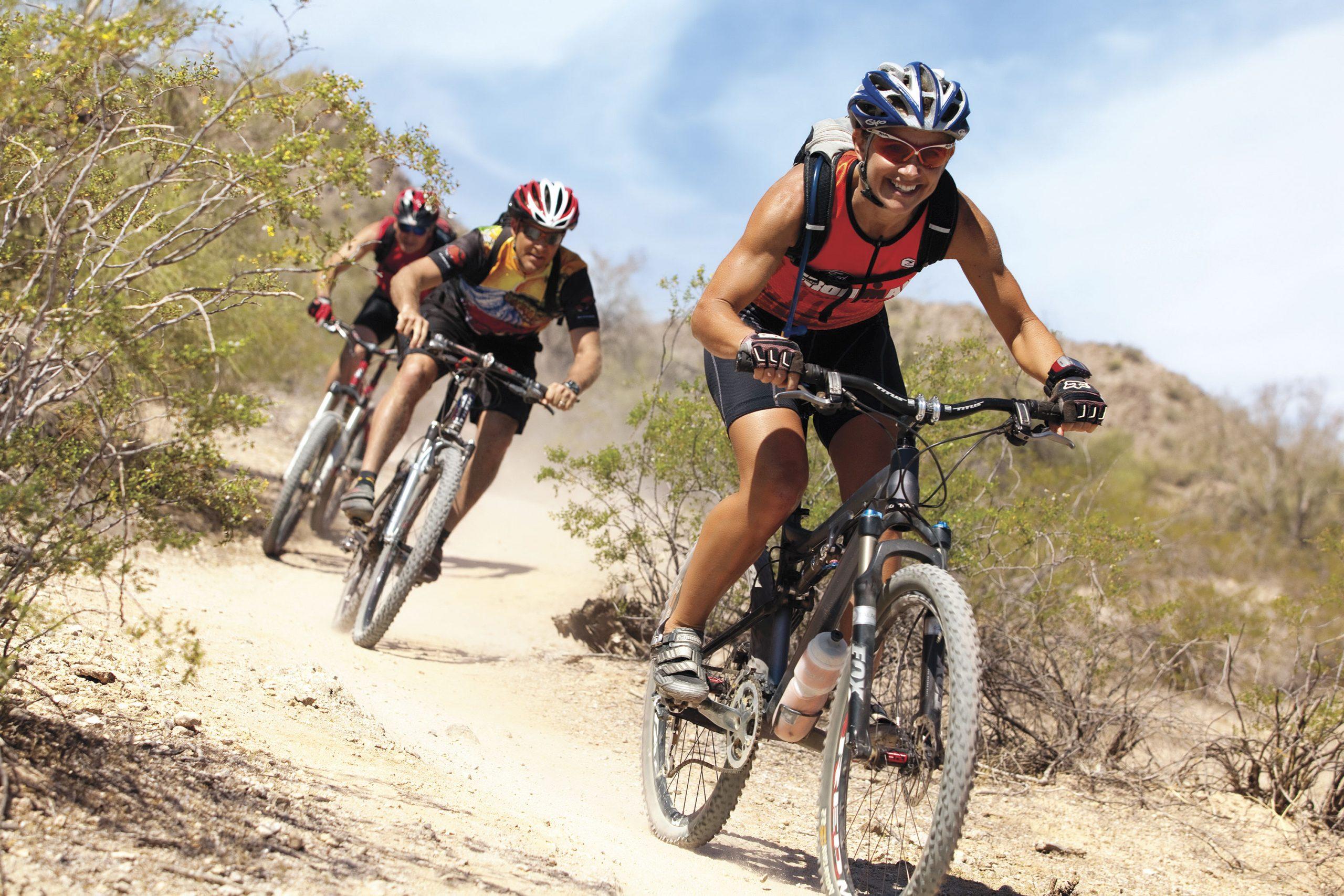 mountain biking; Photo courtesy Estrella