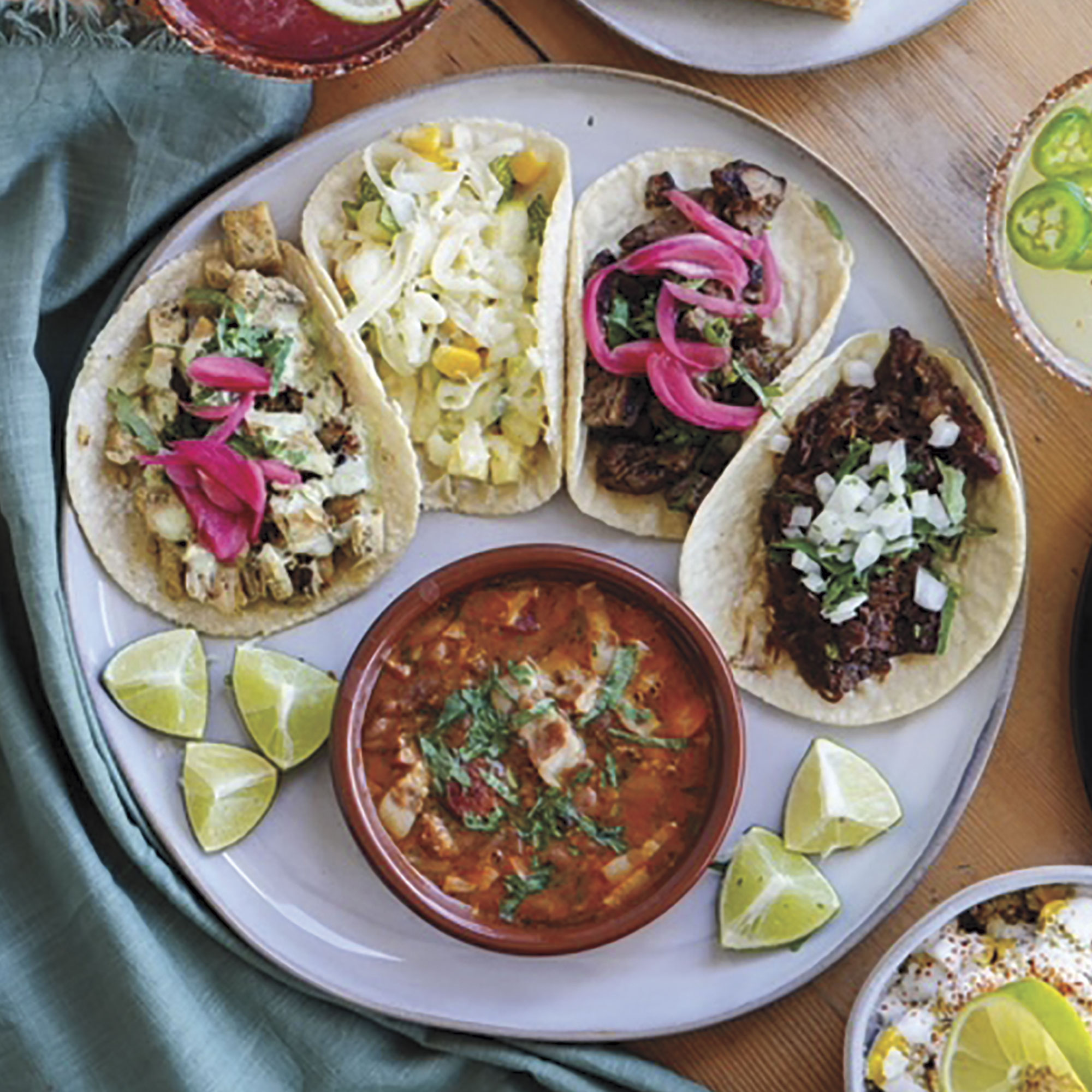 taco medley from Tacos Chiwas; Photo by Gabe Williams/Courtesy Tacos Chiwas