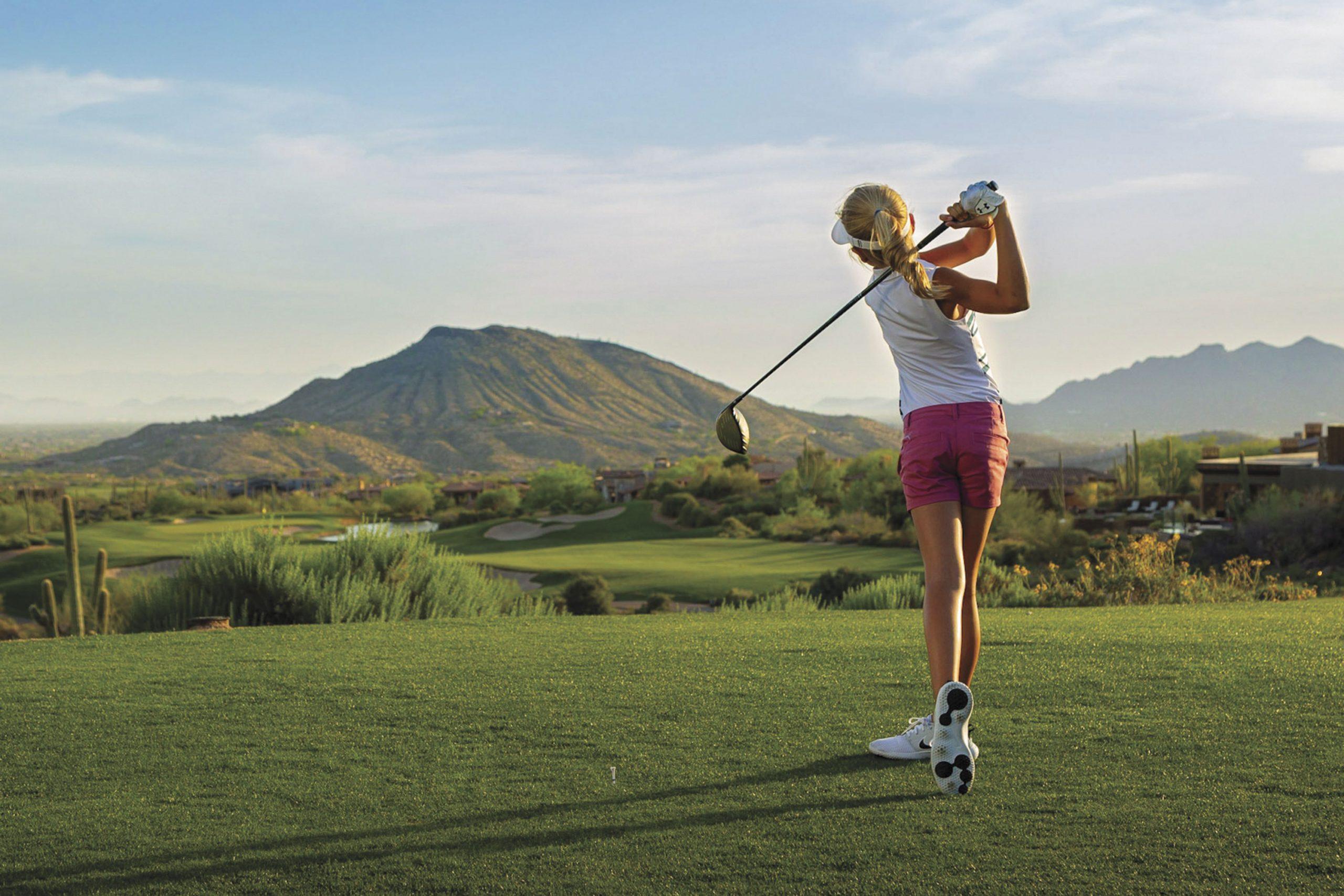 hitting the links at Desert Mountain Golf Glub; Photo courtesy Desert Mountain