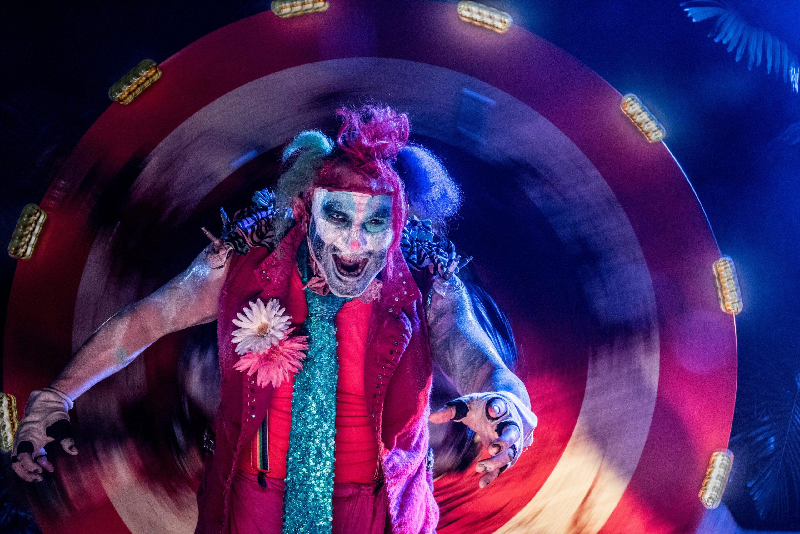 Splats the clown at Howl-o-scream Sea World San Diego
