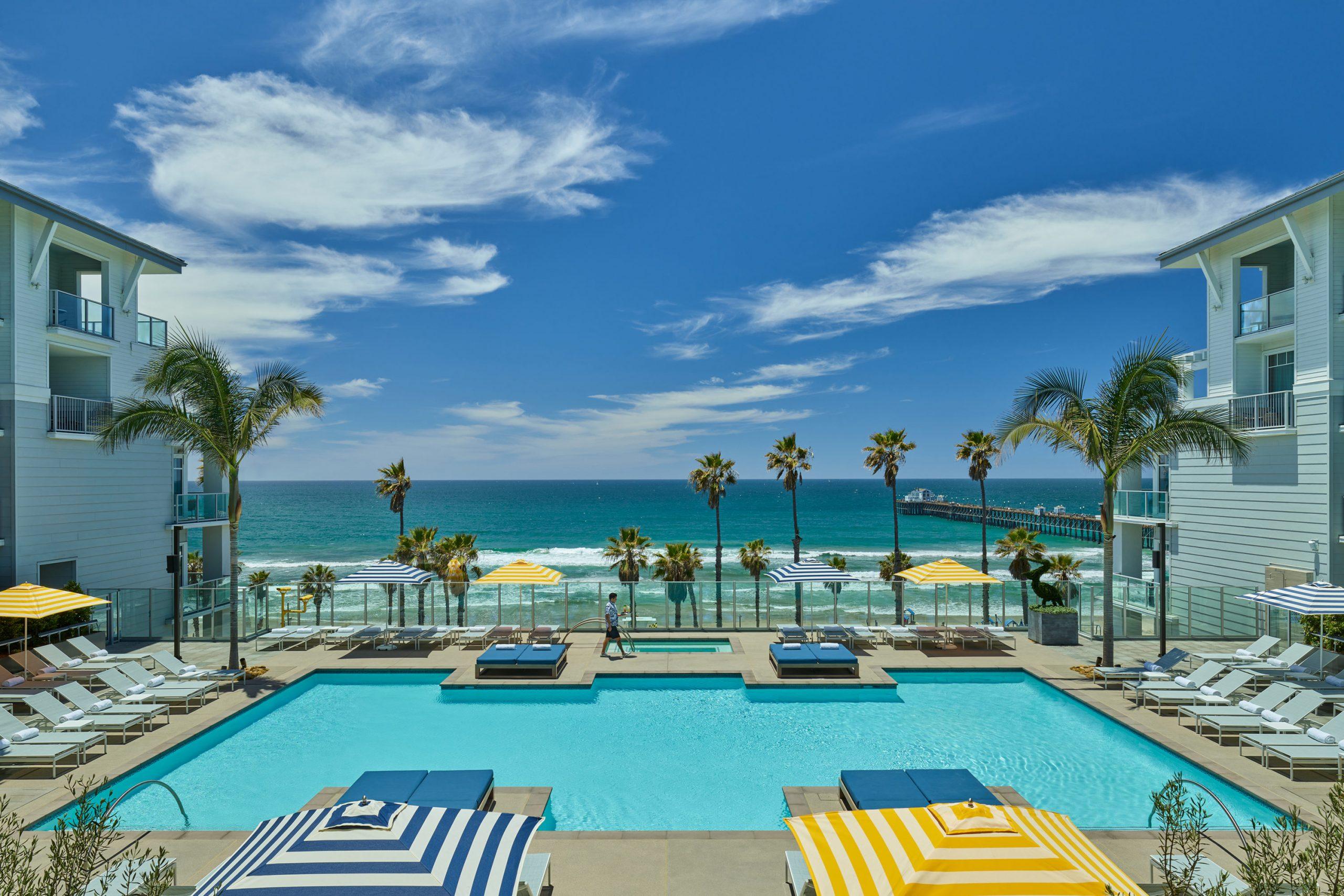Seabird Resort pool in Oceanside
