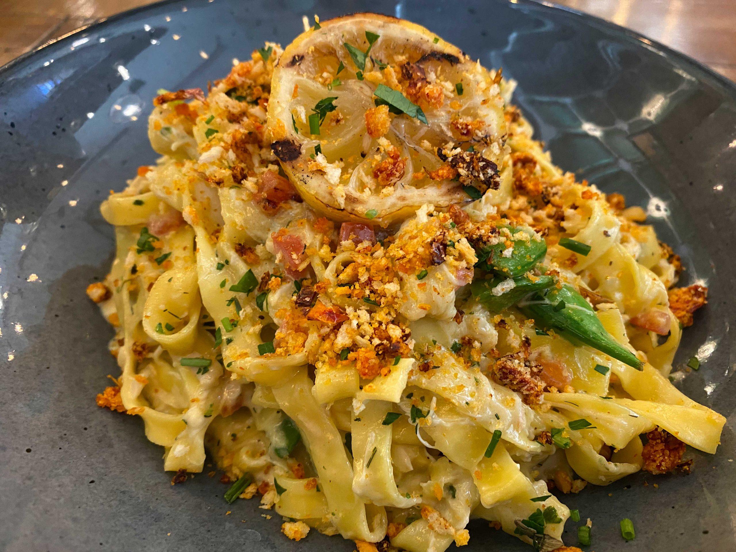 Garlic & Herb Crab Fettucine