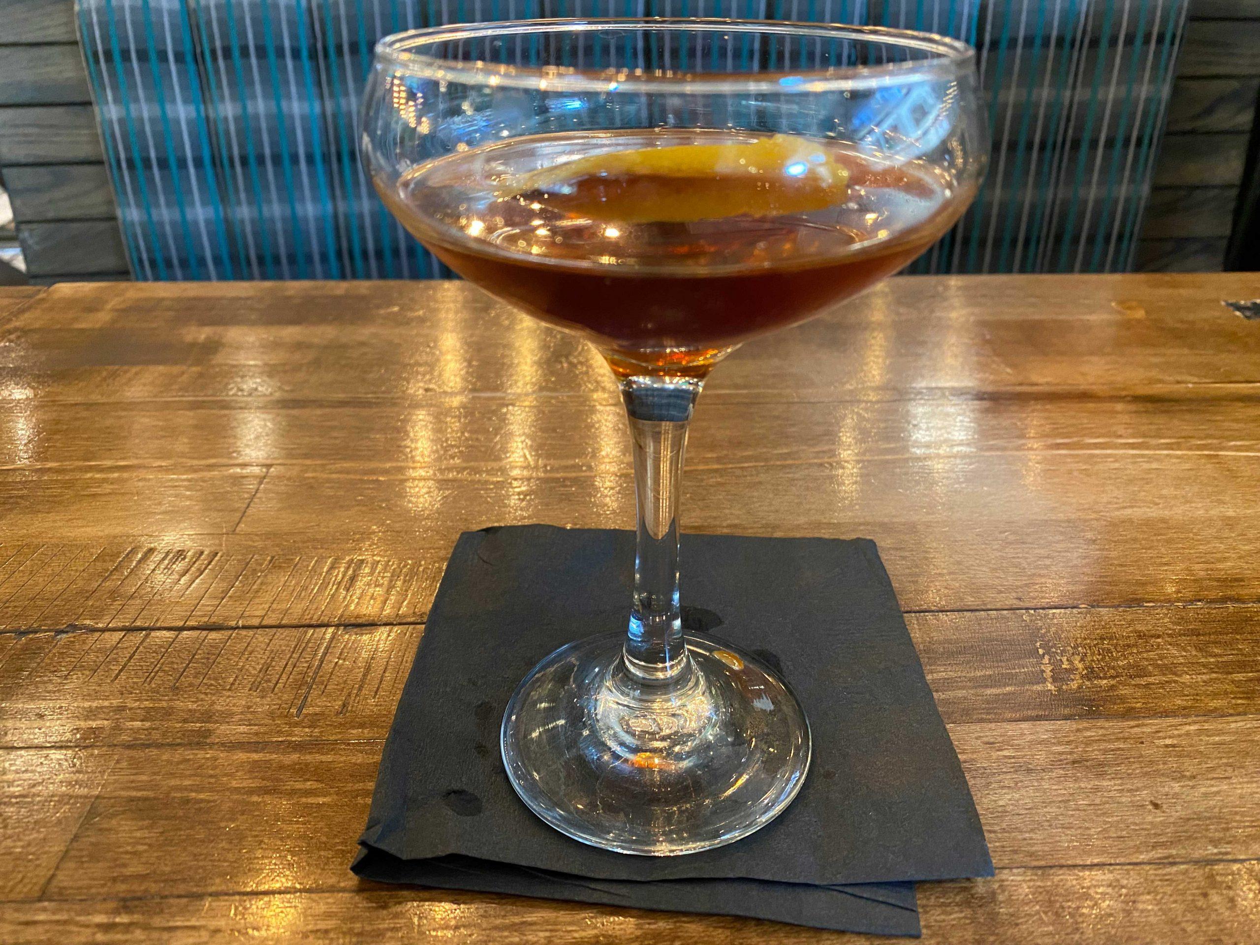 Manhattan cocktail at Hand Cut Chophouse in Scottsdale. Photo by Matthew Johnson, PHOENIX
